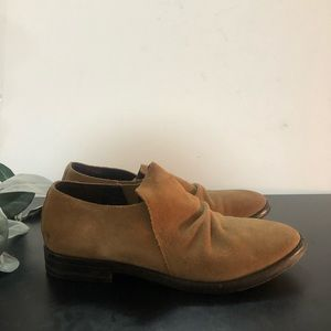 Eileen Fisher Brown Suede Ankle Booties